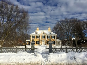 Longfellow's Home on Brattle Street.