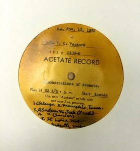 Packard recordings of U.S. accents.