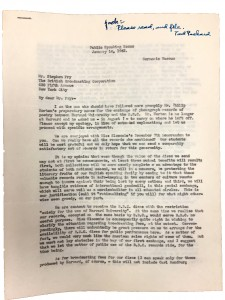 F.C. Packard, Jr., letter to BBC (1942). UAIII 50.8.123.5. Harvard University Archives