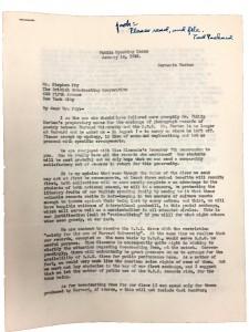 F.C. Packard, Jr., letter to BBC (1942). UAIII 50.8.123.5. Harvard University Archives